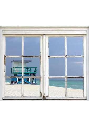 queence Wandsticker »Hütte am Strand« kaufen