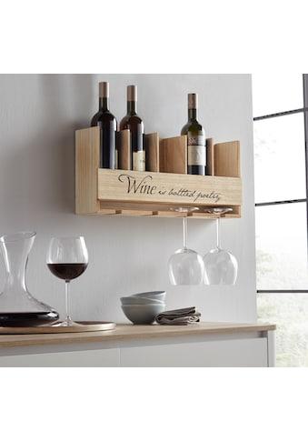 Home affaire Weinregal, mit Halterung für Flaschen und Gläser kaufen
