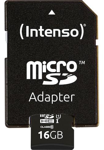 Intenso Speicherkarte »microSDHC UHS-I Premium + SD-Adapter«, (45 MB/s... kaufen