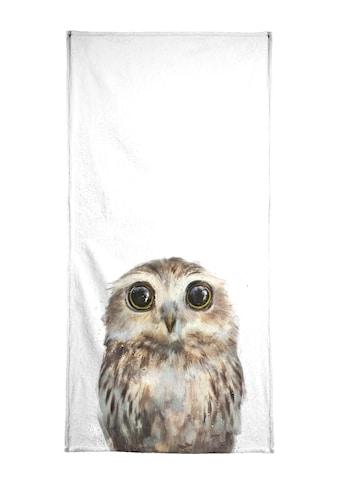 Juniqe Strandtuch »Little Owl«, (1 St.), Weiche Frottee-Veloursqualität kaufen