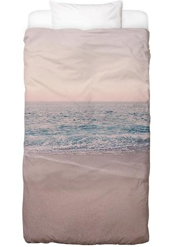 Juniqe Bettwäsche »Rosegoldfarben Beach Morning«, In vielen weiteren Designs erhältlich kaufen