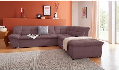 DOMO collection Ecksofa »Lagoa«, wahlweise mit Bettfunktion, frei im Raum stellbar, in... kaufen