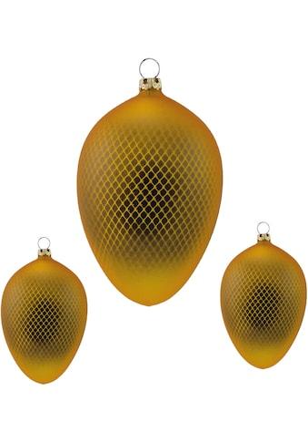 Thüringer Glasdesign Osterei »Netz«, aus Glas, mundgeblasen, handdekoriert kaufen