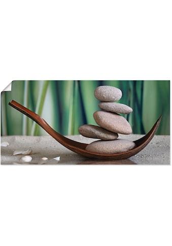 Artland Wandbild »Gleichgewicht«, Zen, (1 St.), in vielen Grössen & Produktarten... kaufen