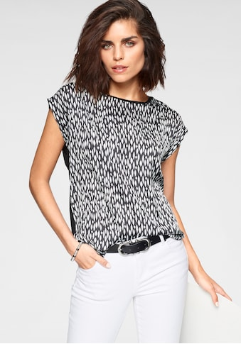 Tamaris Shirtbluse, mit trendigem Print - NEUE KOLLEKTION kaufen