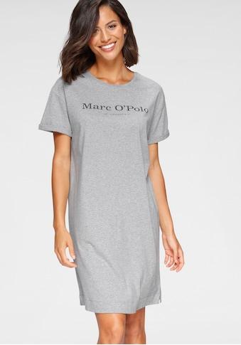 Marc O'Polo Nachthemd, in Basic-Form mit umgeschlagenen Ärmeln kaufen