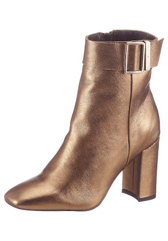 TOMMY HILFIGER High - Heel - Stiefelette »METALLIC SQUARE TOE BOOT« kaufen
