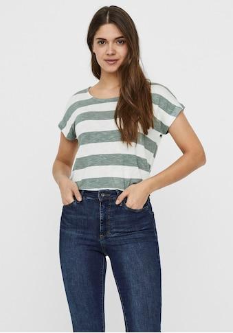 Vero Moda Rundhalsshirt »VMWIDE«, im Blockstreifen-Dessin kaufen
