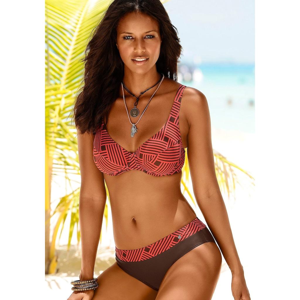 s.Oliver Beachwear Bügel-Bikini, mit grafischem Druckdesign