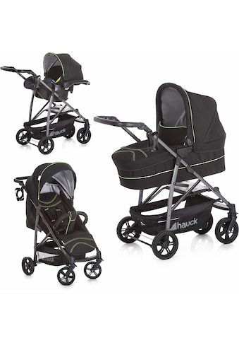 Hauck Kombi-Kinderwagen »Rapid 4S Plus Trio Set Caviar/Neon Yellow«, mit Babyschale kaufen
