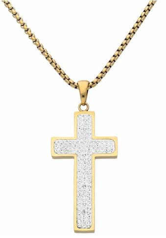 Firetti Kreuzkette, mit zahlreichen Kristallsteinen kaufen