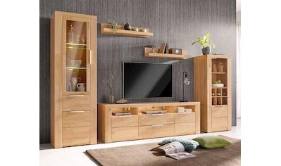 Woltra Wohnwand »Zara«, (Set, 5 St.), teilmassives Holz kaufen