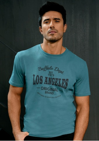 Buffalo T-Shirt »Homewear«, mit Los Angeles Print vorn kaufen