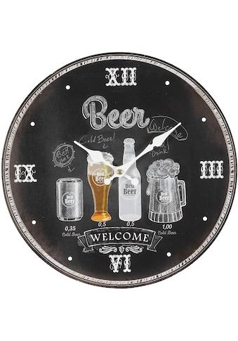 Ambiente Haus Wanduhr »Wanduhr - Beer 28cm« kaufen
