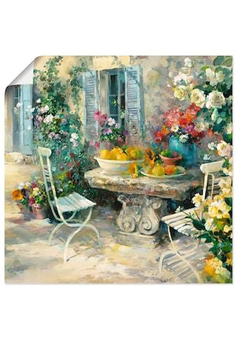 Artland Wandbild »Idyllischer Garten«, Garten, (1 St.), in vielen Grössen &... kaufen