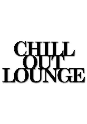"""Home affaire Wandbild »Schriftzug """"Chill out Lounge""""«, Masse (B/H): 60/30 cm kaufen"""