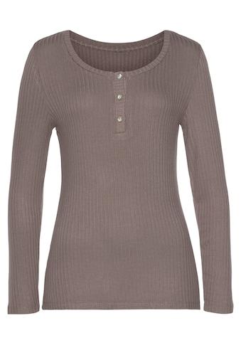 Vivance Langarmshirt, aus modischer Ripp-Qualität kaufen