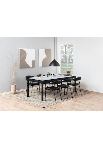 andas Esszimmerstuhl »Alice«, aus schönem Kunstleder Bezug, schwarze Metallbeine,... kaufen