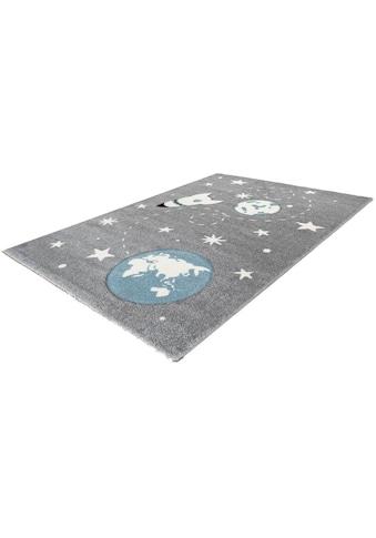Arte Espina Kinderteppich »Amigo 530«, rechteckig, 15 mm Höhe, Weltall Raketen Motiv kaufen