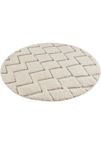 MINT RUGS Teppich »Dades«, rund, 22 mm Höhe, Hoch-Tief-Struktur, Wohnzimmer kaufen