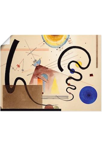 Artland Wandbild »Zwei Bewegungen. 1924«, Muster, (1 St.), in vielen Grössen &... kaufen