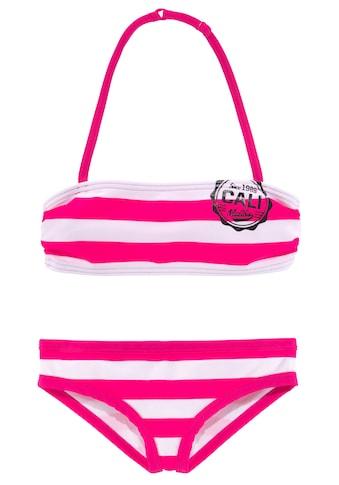 Bench. Bandeau-Bikini, mit trendigen Streifen kaufen