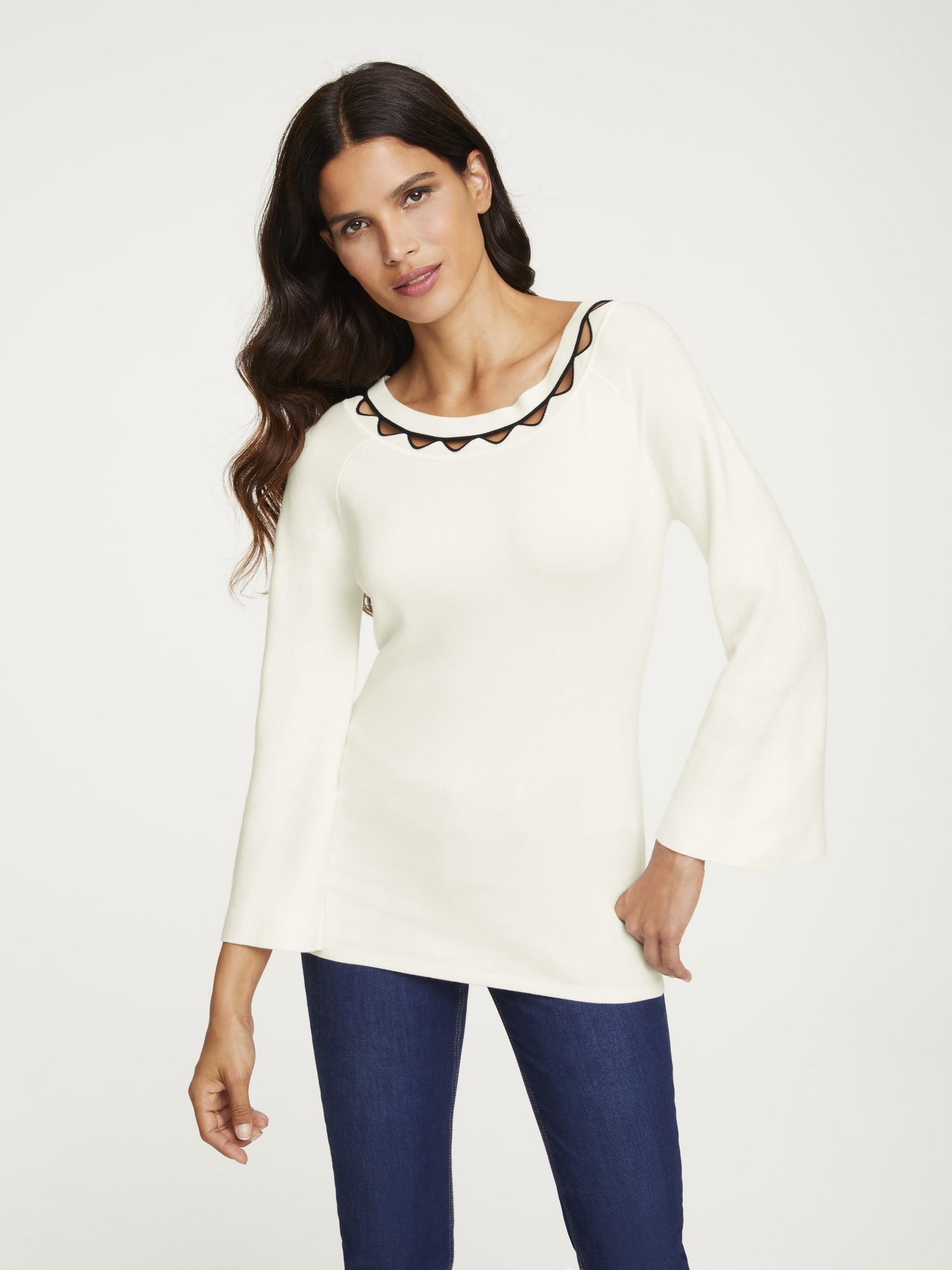 Image of ASHLEY BROOKE by Heine 3/4 Arm-Pullover, mit Cut-Outs