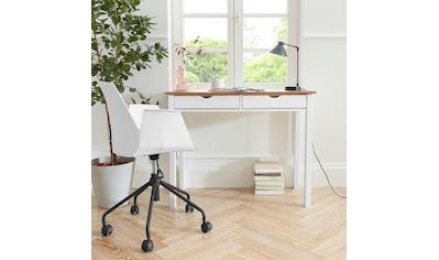 my home Schreibtisch »Gava«, aus massiven Kiefernholz, mit Griffmulden und praktische Stauraummöglichkeiten, in unterschiedlichen Farbvarianten, Breite 100 cm kaufen