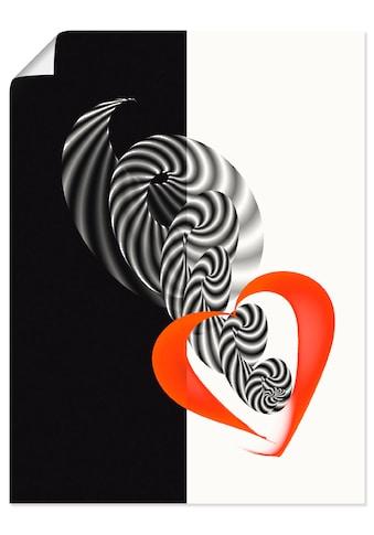 Artland Wandbild »In der Mitte des Herzens« kaufen