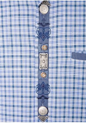 OS - Trachten Trachtenhemd mit dekorativer Knopfleiste kaufen