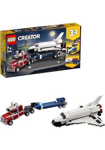 """LEGO® Konstruktionsspielsteine """"Transporter für Space Shuttle (31091), LEGO® Creator"""", Kunststoff, (341 - tlg.) kaufen"""