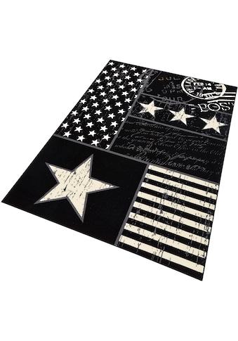 Teppich, »Patchwork Stars«, HANSE Home, rechteckig, Höhe 9 mm, maschinell gewebt kaufen