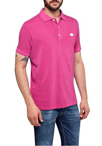 Replay Poloshirt, mit Markenprint im Kragen kaufen