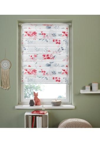 my home Doppelrollo »Fleur«, Lichtschutz, ohne Bohren, freihängend, im Fixmass kaufen