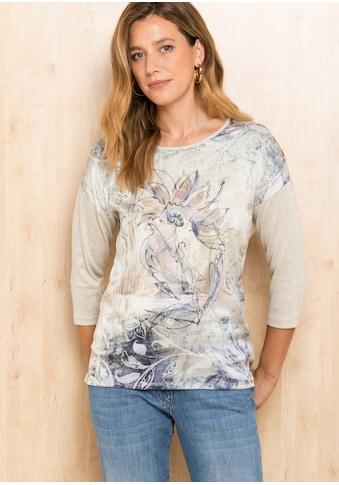 bianca Blusenshirt »JULIE«, mit zartem Print und Steinchenapplikationen kaufen