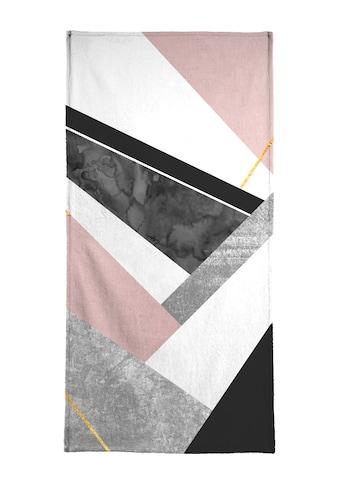 """Handtuch """"Lines & Layers"""", Juniqe kaufen"""
