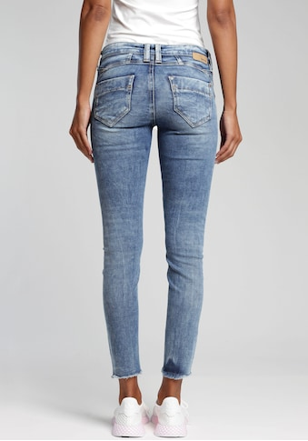 GANG Skinny-fit-Jeans »Nena Cropped«, mit Destroyed-Effekten kaufen