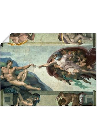 Artland Wandbild »Die Erschaffung des Adam«, Religion, (1 St.), in vielen Grössen &... kaufen
