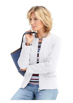 749f37534775 Casual Looks Jeans - Jacke mit dekorativen Kontrastnähten rundum kaufen
