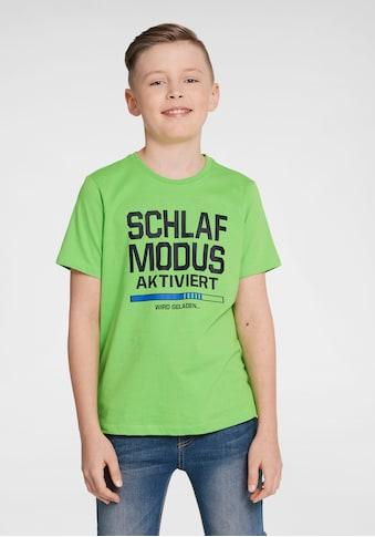 Arizona T-Shirt »Schlafmodus aktiviert«, Druck kaufen