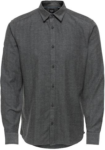 ONLY & SONS Langarmhemd »BRAD HERRINGBONE SHIRT« kaufen