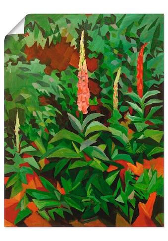Artland Wandbild »Fingerhüte im Garten« kaufen