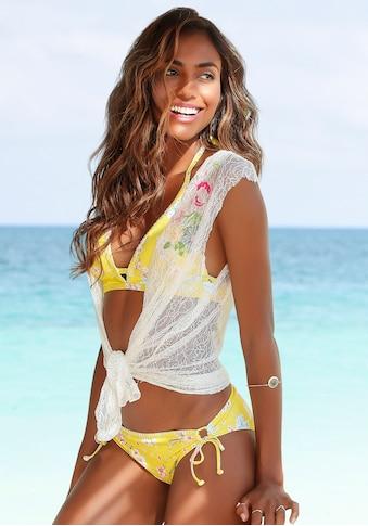 Sunseeker Bikini-Hose »Ditsy«, mit seitlichen Bindebändern und Häkelkante kaufen