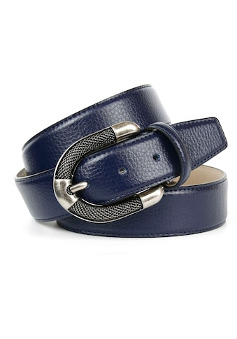 Anthoni Crown Ledergürtel, mit aufwendiger Schmuck-Schliesse in silberfarben kaufen