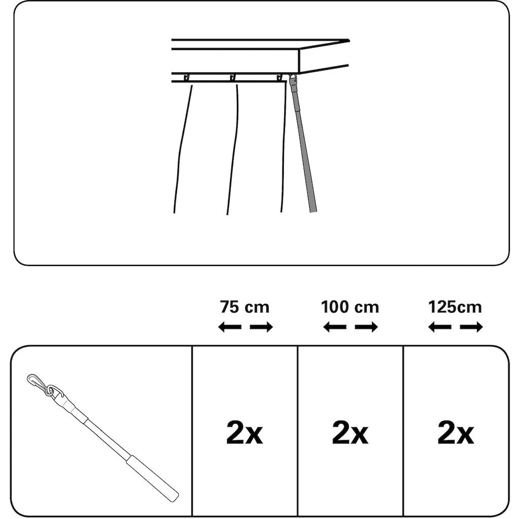 GARDINIA Schleuderstab »Kunststoff mit Metallhaken«, (Set, 2 St.)