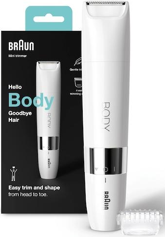 Braun Elektrokörperrasierer »Mini Body-& Bikini-Trimmer BS1000«, 2 St. Aufsätze,... kaufen