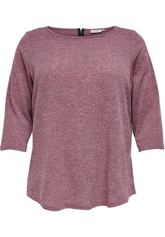 ONLY CARMAKOMA 3/4-Arm-Shirt »CARMARTHA«, mit Rücken-Reissverschluss kaufen