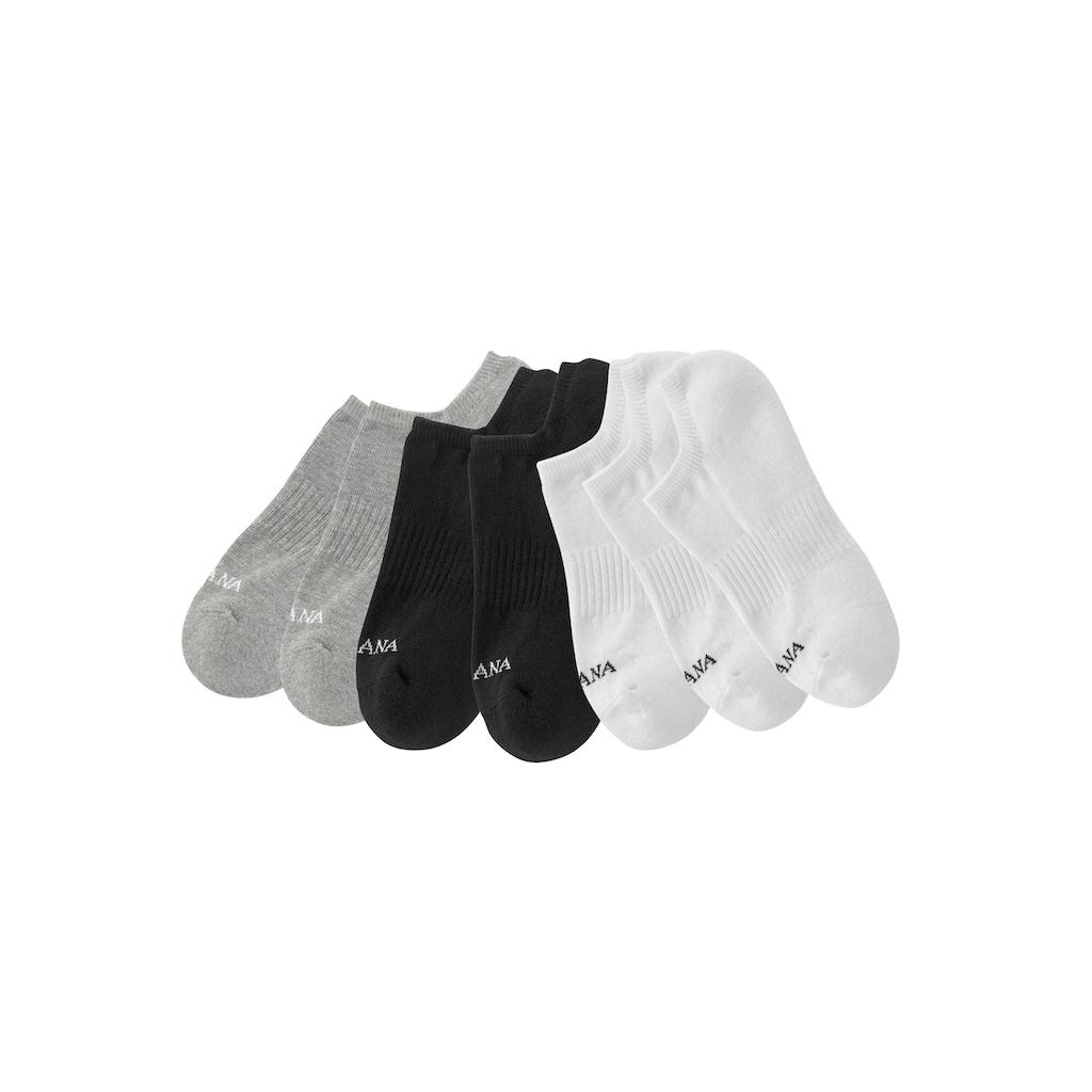 LASCANA ACTIVE Sneakersocken, (7 Paar), mit Fussfrottee