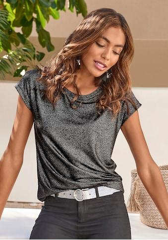 Vivance T-Shirt, mit silbrigem Glitzerdruck kaufen