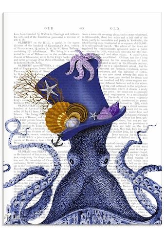Artland Glasbild »Oktopus mit Hut« kaufen